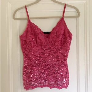 Arden B. Lace and Sequin Camisole